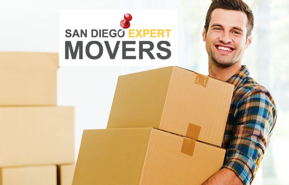 man lifting moving boxes, San Diego movers